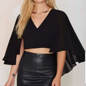 Nasty Gal Cape top. New
